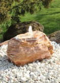 Quellstein Onyx Marmor 45cm Gartenbrunnen Springbrunnen Komplettset