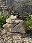 Quellstein Onyx Marmor 50cm Gartenbrunnen Springbrunnen Komplettset