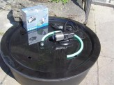 Set PE Becken mit GFK Deckel Ø90x35 | Pumpe Oase Aquarius Universal Eco 3000