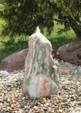 Quellstein Monolith 75cm Marmor Norwegisch Pink Gartenbrunnen Springbrunnen Komplettset