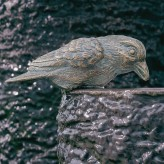 Bronzefigur Vogel Haussperling L15cm Bronze Skulptur Gartenfigur Rottenecker