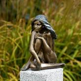 Bronzefigur Mädchen Demi 24cm Gartenfigur Bronze Skulptur Rottenecker