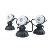 Luminis 3 LED Leuchten neutral weiß Oase Spots Strahler Gartenbeleuchtung Teichbeleuchtung