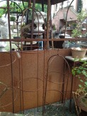 Rankobelisk Eisen 140cm Edelrost Rankhilfe Gartenstecker Staudenhalter