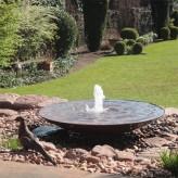 Cortenstahl Wasserschale 120 mit Fontäne Edelrost Springbrunnen Komplettset