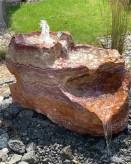 Quellstein Bachlauf Onyx Flamingo L110cm mit Quellschalen Gartenbrunnen Springbrunnen Komplettset