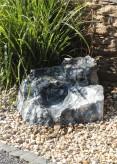 VERKAUFT! Quellstein Bachlauf Marmor anthrazit L70cm mit Quellschalen Gartenbrunnen Springbrunnen