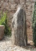 Quellstein Monolith Gneis 140cm Springbrunnen Gartenbrunnen Komplettset
