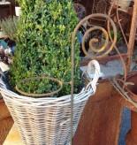 Topfhalter Edelrost Gartenstecker Rosenstab Shabby Landhaus Cottage & Vintage