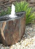 Quellstein Schiefer L80cm mit Quellschale Komplettset Gartenbrunnen Springbrunnen