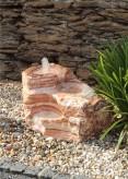 Quellstein Bachlauf Onyx Marmor Angel Sparks L80cm Gartenbrunnen Springbrunnen Komplettset