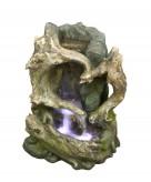Zierbrunnen Zhongchi 45 cm Polystone Wasserfall inkl. Pumpe und LED