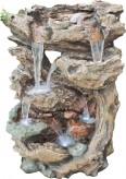 Zierbrunnen Jama 134 cm | Polystone Wasserfall inkl. Pumpe und LED Beleuchtung