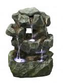 AUSSTELLUNGSSTÜCK! Zimmerbrunnen Konu 36 cm Polystone Wasserfall inkl. Pumpe und LED
