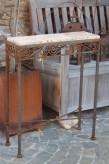 Vintage Tisch Eisen Edelrost 60x20x77 | Shabby, Landhaus & Cottage