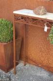Vintage Tisch Eisen Edelrost 60x20x77 Garten Dekoration Shabby Landhaus & Cottage