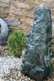 Wasserspiel kpl.SET: Quellstein Marmor Säule artik green inkl. Pumpe | Becken | LED