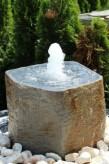 Wasserspiel kpl.SET: Quellstein Basalt inkl. Pumpe | Becken | Zubehör
