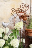 Rosenstab Herz Edelrost | Gartenstecker Rankhilfe Shabby, Landhaus, Cottage & Vintage