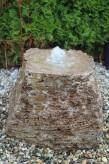 Wasserspiel kpl. SET: Quellstein Muschelkalk inkl. Pumpe | Becken