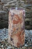 Wasserspiel kpl.SET: Quellstein Quarz Porphyr rot 83cm inkl. Pumpe Becken