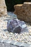 Wasserspiel kpl.SET: Quellstein Lila Marmor inkl. Pumpe | Becken