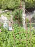 Rankhilfe Obelisk Edelrost klein 95cm   Gartenstecker Staudenhalter Shabby, Landhaus & Vintage