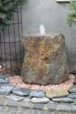Wasserspiel kpl.SET: Quellstein Regenbogen Porphyr inkl. Pumpe | Becken Zierbrunnen