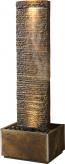 Zimmerbrunnen Rido 170LEX | Feng Shui Schieferbrunnen Wasserwand inkl. Beleuchtung