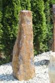 Wasserspiel kpl. SET: Quellstein Monolith Sodalith blau inkl. Pumpe | Becken