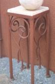 Vintage Tisch Eisen Edelrost 20x20x53 | Shabby, Landhaus & Cottage