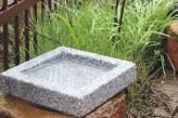 Vogeltränke Granit quadratisch Vogelbad für Garten