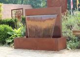 Cortenstahl Wasserfall 90 im Edelrost Design inkl. Pumpe