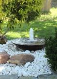 Wasserspiel SET Cortenstahl Wasserschale 60 mit Sprudelquelle Gartenbrunnen Edelrost Design