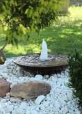 Wasserspiel SET Cortenstahl Wasserschale 80 mit Sprudelquelle Gartenbrunnen Edelrost Design