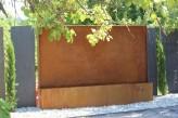 Wasserspiel kpl. SET: Cortenstahl Edel Rost Gigant-Wasserwand inkl. Pumpe und Befestigungszubehör