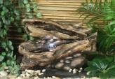 Zimmerbrunnen Yi | Zierbrunnen Polystone inkl. Pumpe und LED Beleuchtung