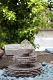Wasserspiel kpl.SET: AKTIONSPREIS! Quellstein MiniZichi Granit rosa inkl. Pumpe | Becken