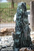 Wasserspiel kpl.SET: Quellstein Marmor artik green inkl. Pumpe | Becken | LED