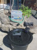 PE Becken mit GFK Deckel Ø45cm  |  Pumpe Oase Aquarius Universal 600
